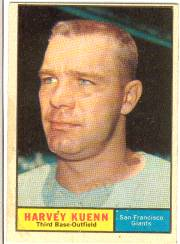 1961 Topps Baseball Cards      500     Harvey Kuenn