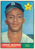 1961 Topps Baseball Cards      514     Jake Wood RC