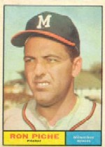 1961 Topps Baseball Cards      061      Ron Piche RC