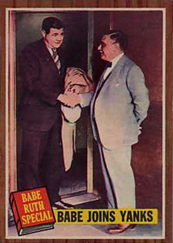 1962 Topps      136      Babe Ruth Special 2-Babe Joins Yanks-Pictured Owner with Jacob Ruppert
