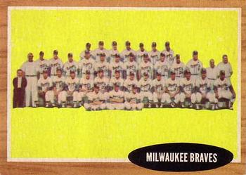 1962 Topps      158     Milwaukee Braves TC
