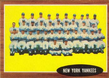 1962 Topps      251     New York Yankees TC