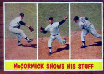 1962 Topps      319     McCormick Shows His Stuff (Mike McCormick)