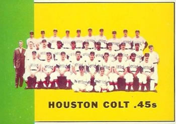 1963 Topps Baseball Cards      312     Houston Colts TC
