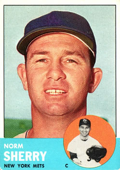 1963 Topps Baseball Cards      316     Norm Sherry