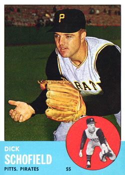 1963 Topps Baseball Cards      034      Dick Schofield