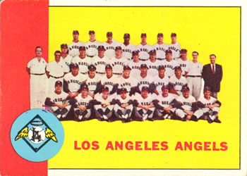 1963 Topps Baseball Cards      039      Los Angeles Angels TC
