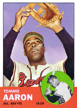 1963 Topps Baseball Cards      046      Tommie Aaron RC