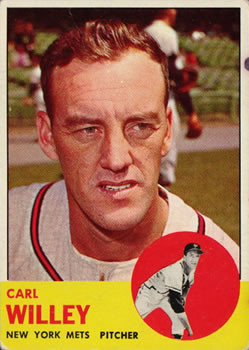 1963 Topps Baseball Cards      528     Carl Willey