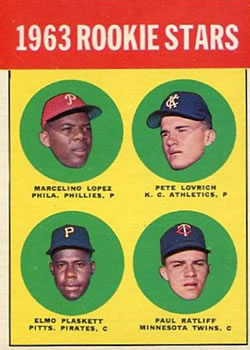 1963 Topps Baseball Cards      549     Rookie Stars