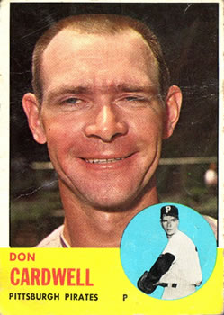 1963 Topps Baseball Cards      575     Don Cardwell