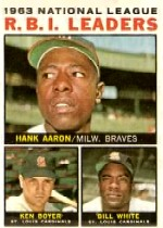 1964 Topps Baseball Cards      011      NL RBI Leaders-Hank Aaron-Ken Boyer-Bill White