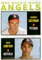 1964 Topps Baseball Cards      127     Rookie Stars-Aubrey Gatewood RC-Dick Simpson
