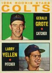 1964 Topps Baseball Cards      226     Rookie Stars-Jerry Grote RC-Larry Yellen RC