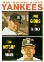 1964 Topps Baseball Cards      281     Rookie Stars-Jake Gibbs-Tom Metcalf RC