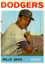 1964 Topps Baseball Cards      068      Willie Davis