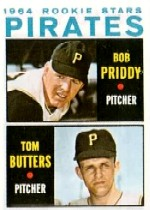 1964 Topps Baseball Cards      074      Rookie Stars-Bob Priddy RC-Tom Butters