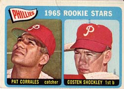 1965 Topps Baseball Cards      107     Rookie Stars-Pat Corrales RC-Costen Shockley RC