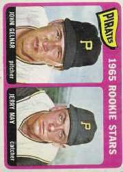 1965 Topps Baseball Cards      143     Rookie Stars-John Gelnar RC-Jerry May RC