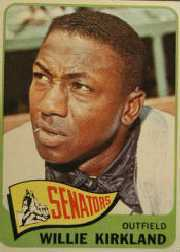 1965 Topps Baseball Cards      148     Willie Kirkland