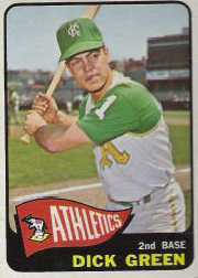 1965 Topps Baseball Cards      168     Dick Green