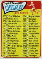 1965 Topps Baseball Cards      189     Checklist 3