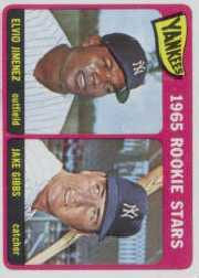 1965 Topps Baseball Cards      226     Rookie Stars-Elvio Jimenez RC-Jake Gibbs