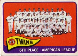 1965 Topps Baseball Cards      024      Minnesota Twins TC