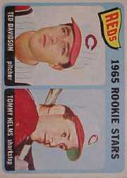 1965 Topps Baseball Cards      243     Rookie Stars-Ted Davidson RC-Tommy Helms RC