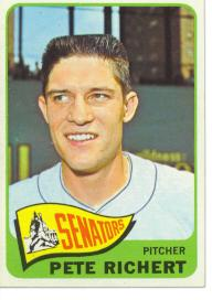 1965 Topps Baseball Cards      252     Pete Richert