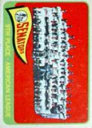 1965 Topps Baseball Cards      267     Washington Senators TC