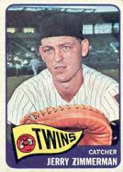 1965 Topps Baseball Cards      299     Jerry Zimmerman