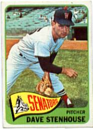1965 Topps Baseball Cards      304     Dave Stenhouse