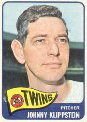1965 Topps Baseball Cards      384     Johnny Klippstein