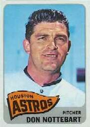 1965 Topps Baseball Cards      469     Don Nottebart
