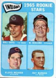 1965 Topps Baseball Cards      546     Rookie Stars-Bill Davis RC-Mike Hedlund RC-Ray Barker-Floyd Weaver RC