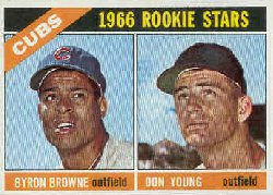 1966 Topps Baseball Cards      139     Rookie Stars-Byron Browne RC-Don Young RC