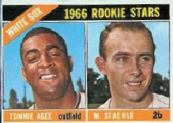 1966 Topps Baseball Cards      164     Rookie Stars-Tommie Agee-Marv Staehle