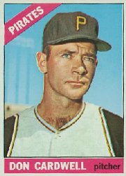 1966 Topps Baseball Cards      235     Don Cardwell