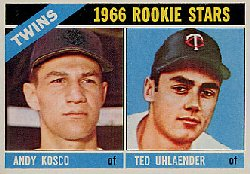 1966 Topps Baseball Cards      264     Rookie Stars-Andy Kosco RC-Ted Uhlaender RC