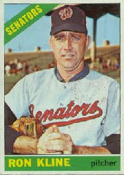 1966 Topps Baseball Cards      453     Ron Kline