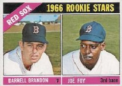 1966 Topps Baseball Cards      456     Rookie Stars-Darrell Brandon RC-Joe Foy RC
