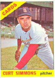 1966 Topps Baseball Cards      489     Curt Simmons