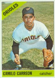 1966 Topps Baseball Cards      513     Camilo Carreon