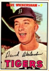 1967 Topps Baseball Cards      112     Dave Wickersham