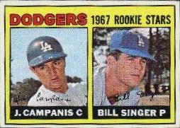 1967 Topps Baseball Cards      012      Rookie Stars-Jim Campanis RC-Bill Singer
