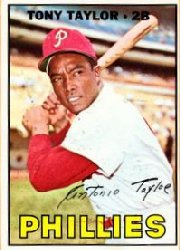 1967 Topps Baseball Cards      126     Tony Taylor
