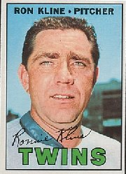 1967 Topps Baseball Cards      133     Ron Kline
