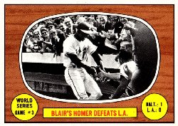 1967 Topps Baseball Cards      153     World Series Game 3-Paul Blair