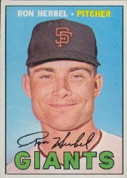 1967 Topps Baseball Cards      156     Ron Herbel